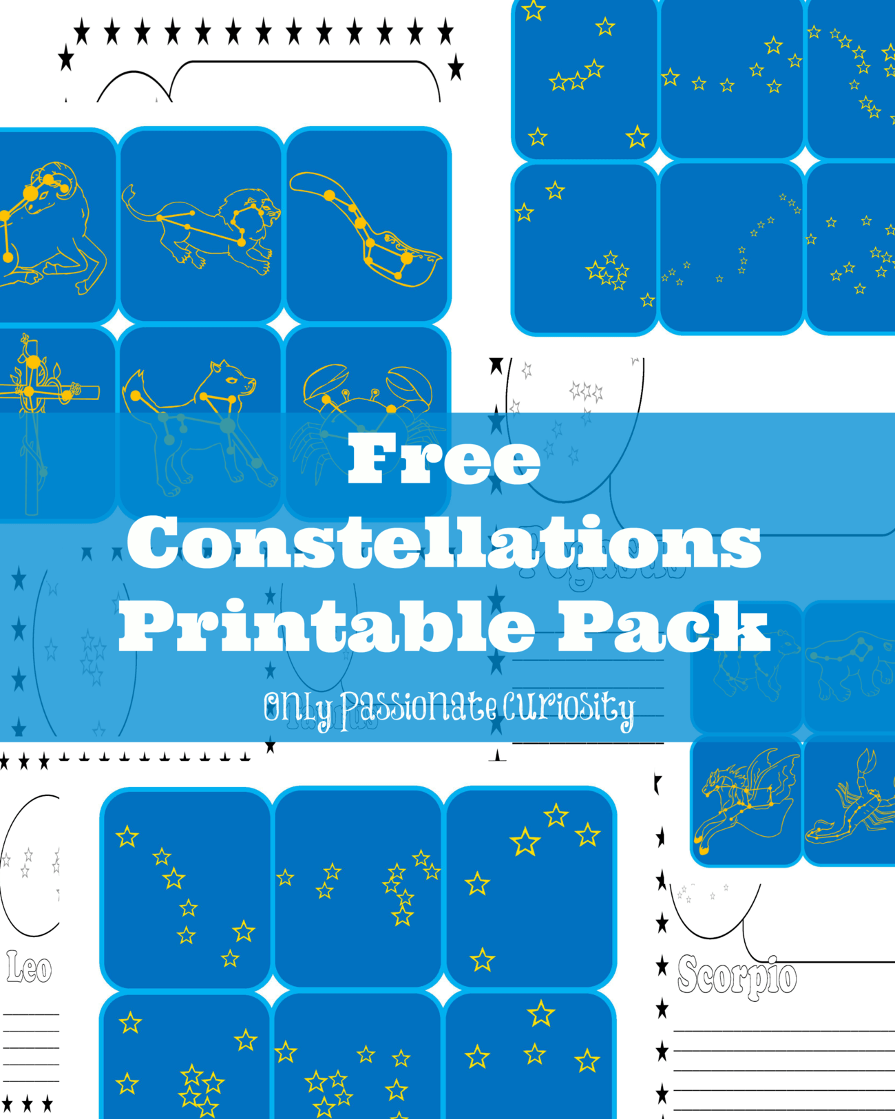 Learning About Constellations Free Printable Pack