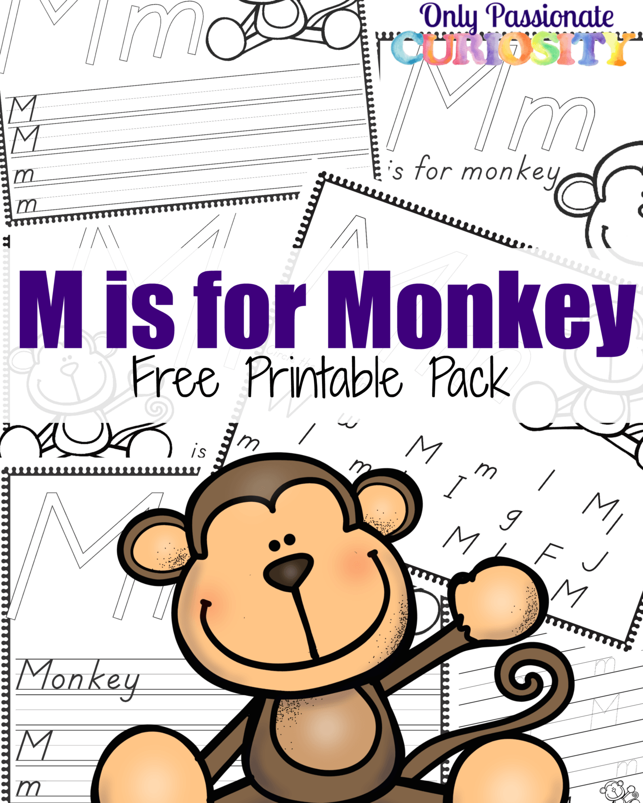 M Is For Monkey Abcs For Me Only Passionate Curiosity