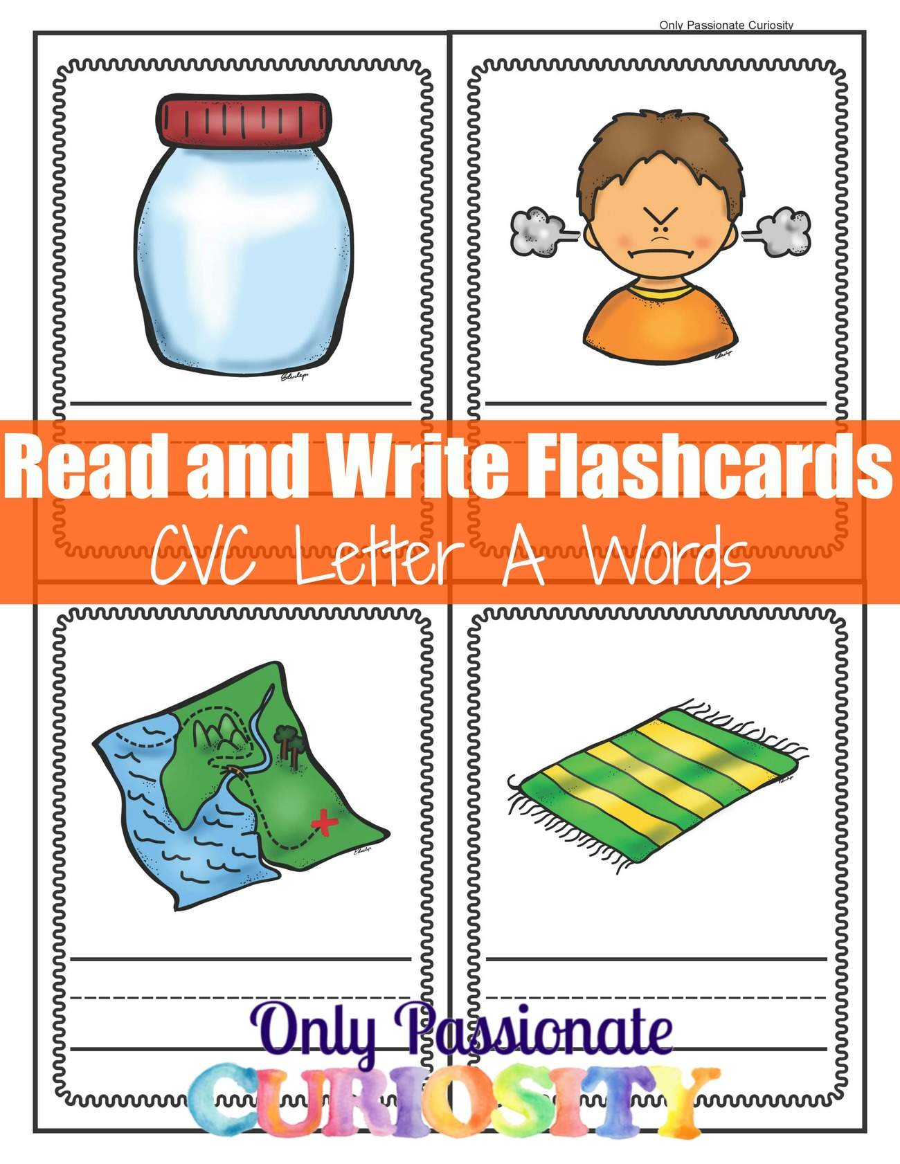 Write And Review Cvc Letter A Flashcards Only