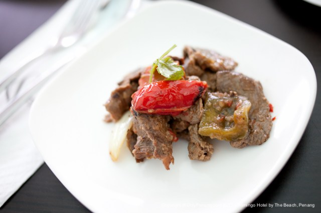 Stir Fried Prime Beef with Black Bean & Three Sweet Peppers
