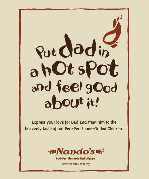 Nando's Father's day promotion