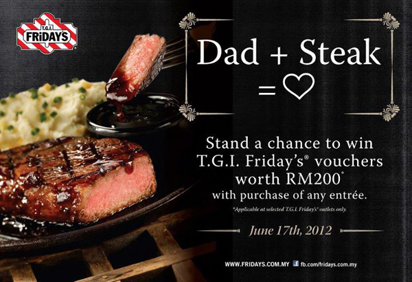 T.G.I. Friday's Father's Day Promotion