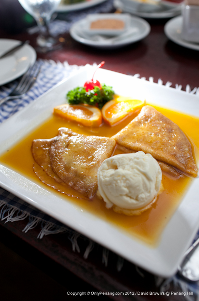David Brown Crepe Suzette - Served with Vanilla Ice-Cream