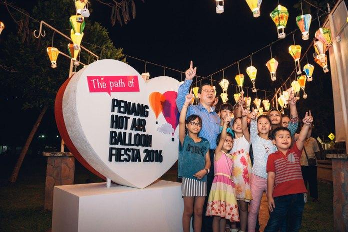 The path of Penang Hot Air Balloon Fiesta 2016