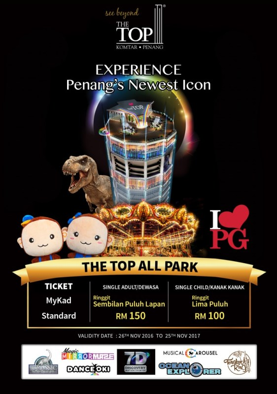 The Top Penang All Park Entrance Fee