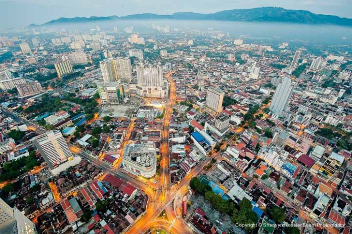 Georgetown view from Penang Komtar - by Sherwyndkessler Event Photography