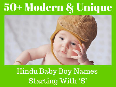 Unique Hindu Baby Boy Names Starting With S