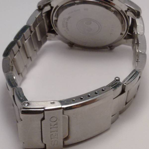 Seiko 7T32-6M00 Bracelet and back