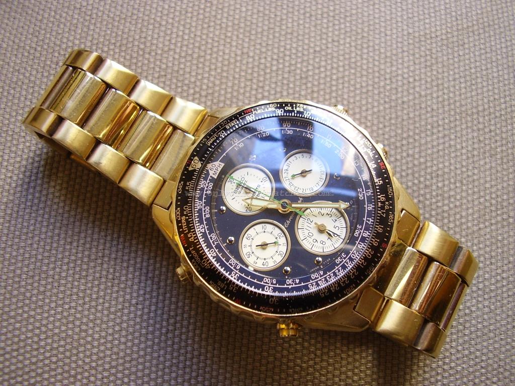 Seiko 7T34 6A00 Quartz Chronograph