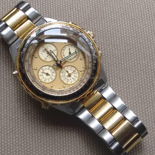 Vintage Seiko 7T34-6A00 Quartz Chronograph