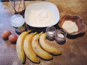 Ingrédients pour le banane bread