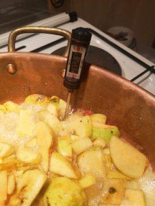 thermomètre gelée de pommes
