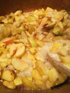 Gelée de pommes : première cuisson