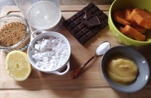 ingrédients pour le fondant au chocolat