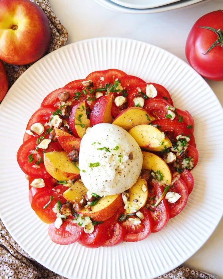 tomates mozza nectarines
