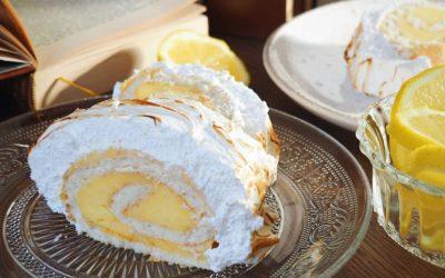 Bûche façon tarte au citron meringuée