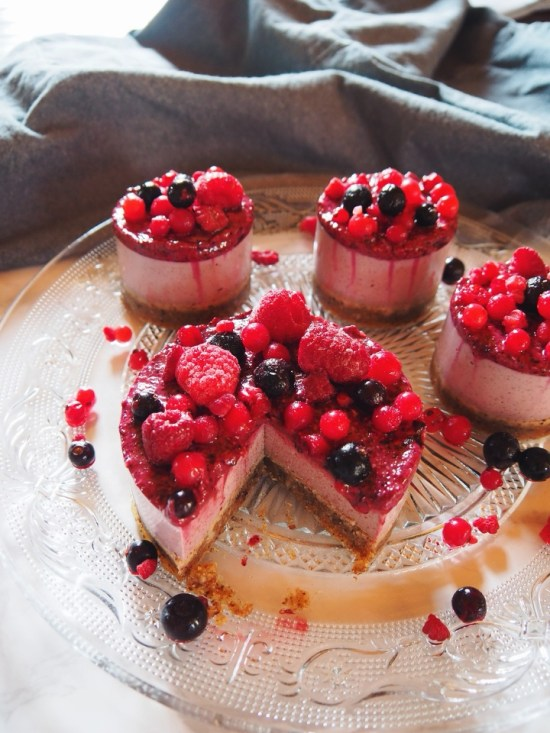 cheesecake fruits rouges healthy