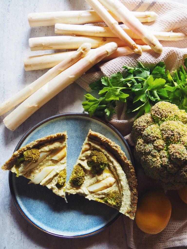 Tarte crue sans cuisson au brocolis simple à faire recette facile et rapide