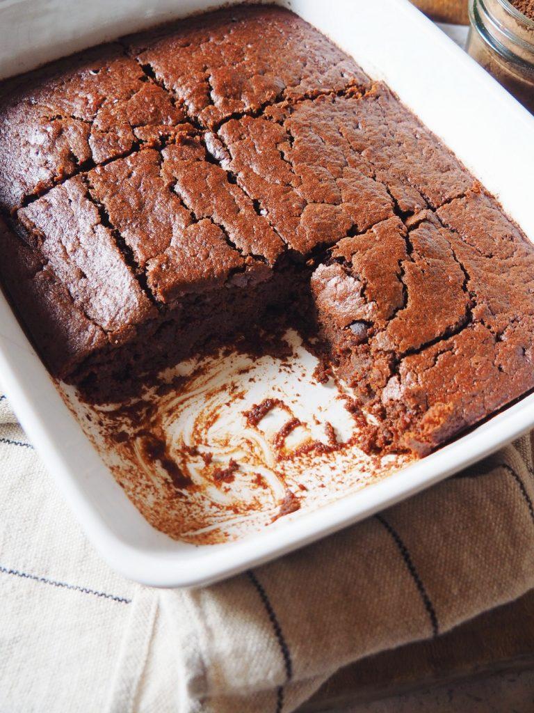 Mi fondant mi moelleux au chocolat et à la patate douce vegetarien dessert facile