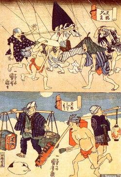 Parody of Tengu, Print by Utagawa Kuniyoshi, 1797-1861