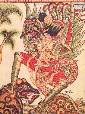 Karura image by Ida Made Tlaga of Sanur (Bali); dated around 1880.