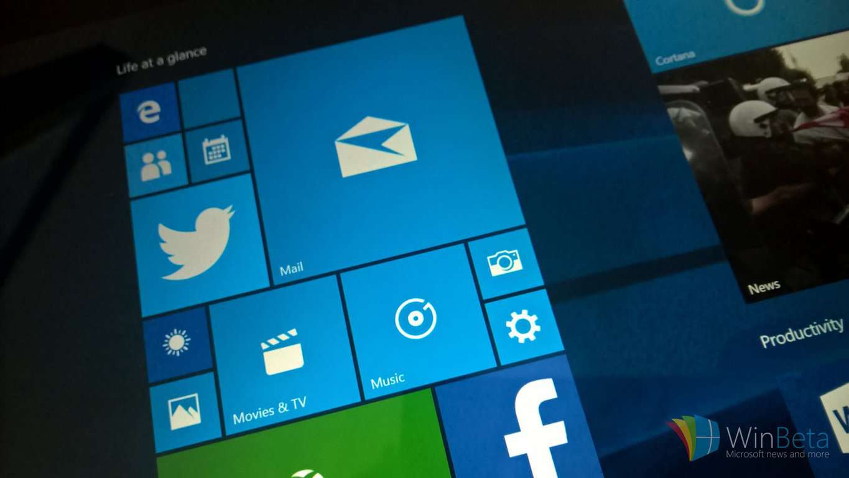 Windows 10 tablet mode