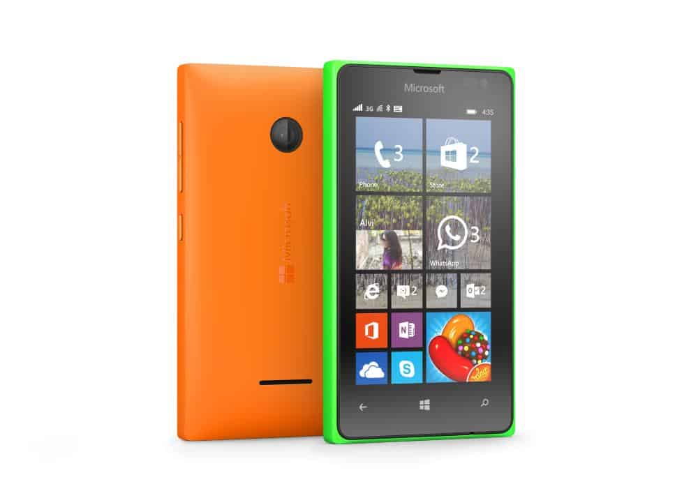 The Lumia 435 is one of the few remaining 4-inch Windows phones.