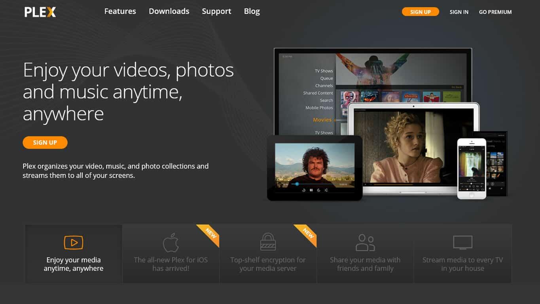 Plex Home Page