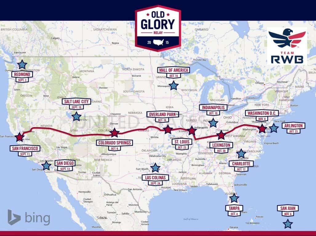 OLD Glory Route Map