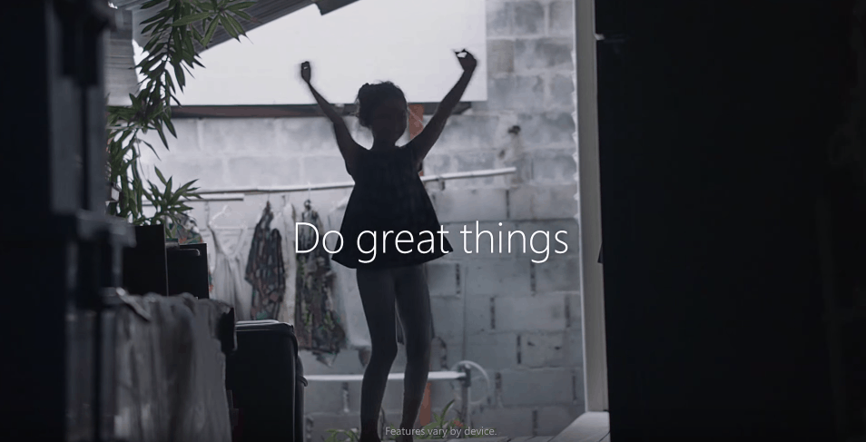 Windows 10 Do Great Things ad