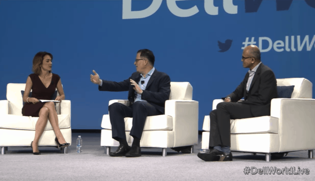Bloomberg TV interviewed Dell CEO Michael Dell and Microsoft CEO Satya Nadella, via GeekWire.