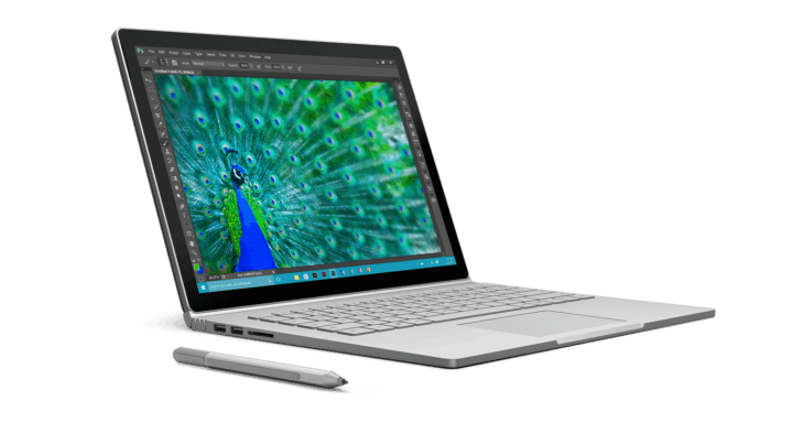 Surface Book front view.