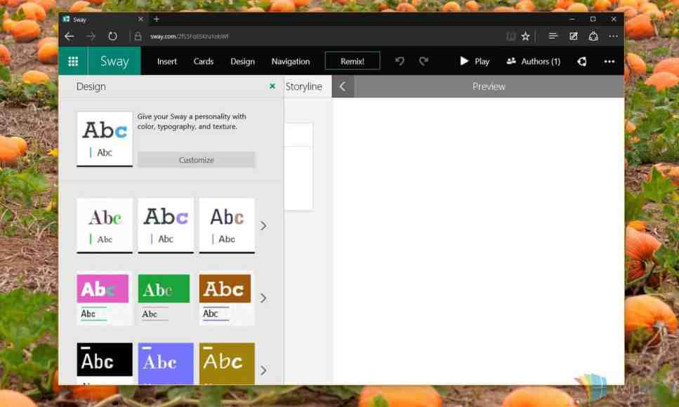 microsoft sway templates download