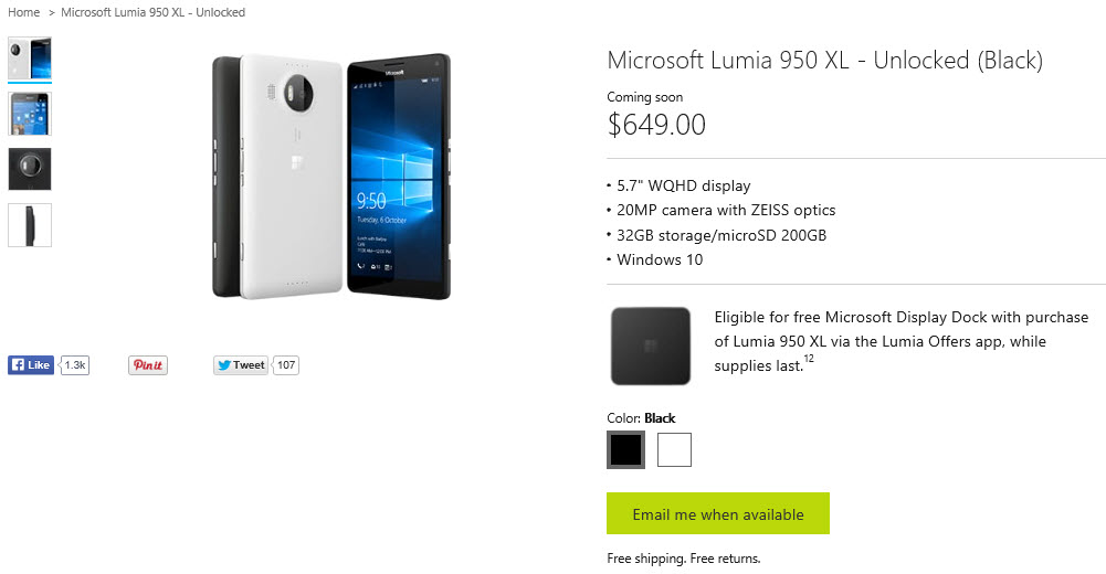 If Microsoft has any idea when the Lumia 950 XL will start shipping again, they're not telling.