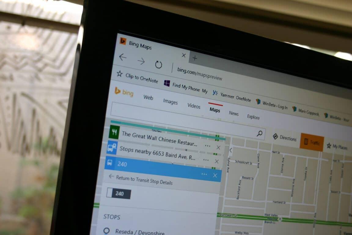 Bing Maps Transit