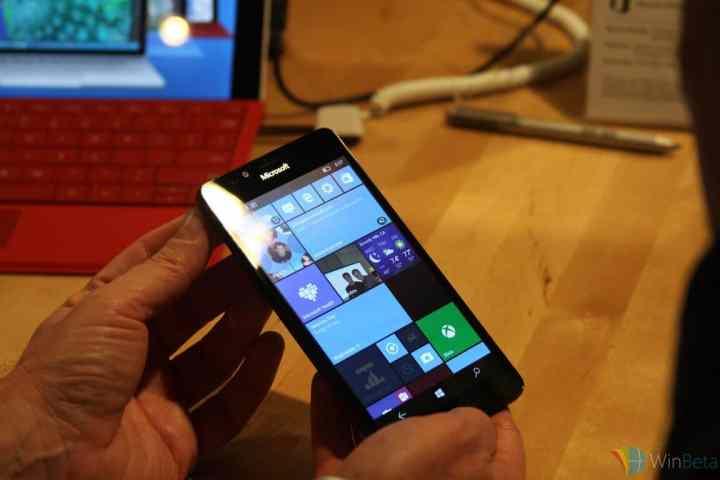 Lumia 950 front view.