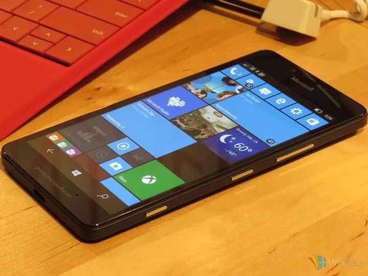 Lumia 950 side view.