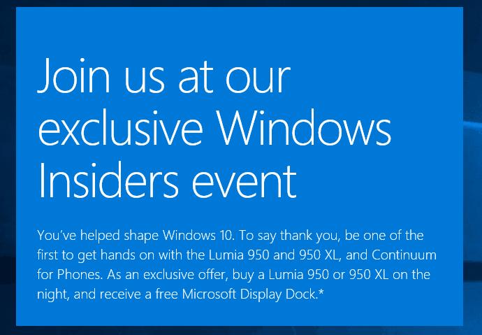 Windows Insider event