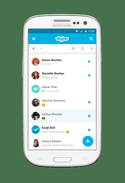 The new UI. Courtesy of Skype blog.