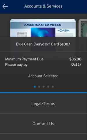American Express Windows 10 Mobile App