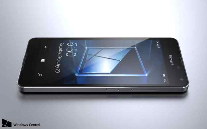 Lumia 650 Render - Front