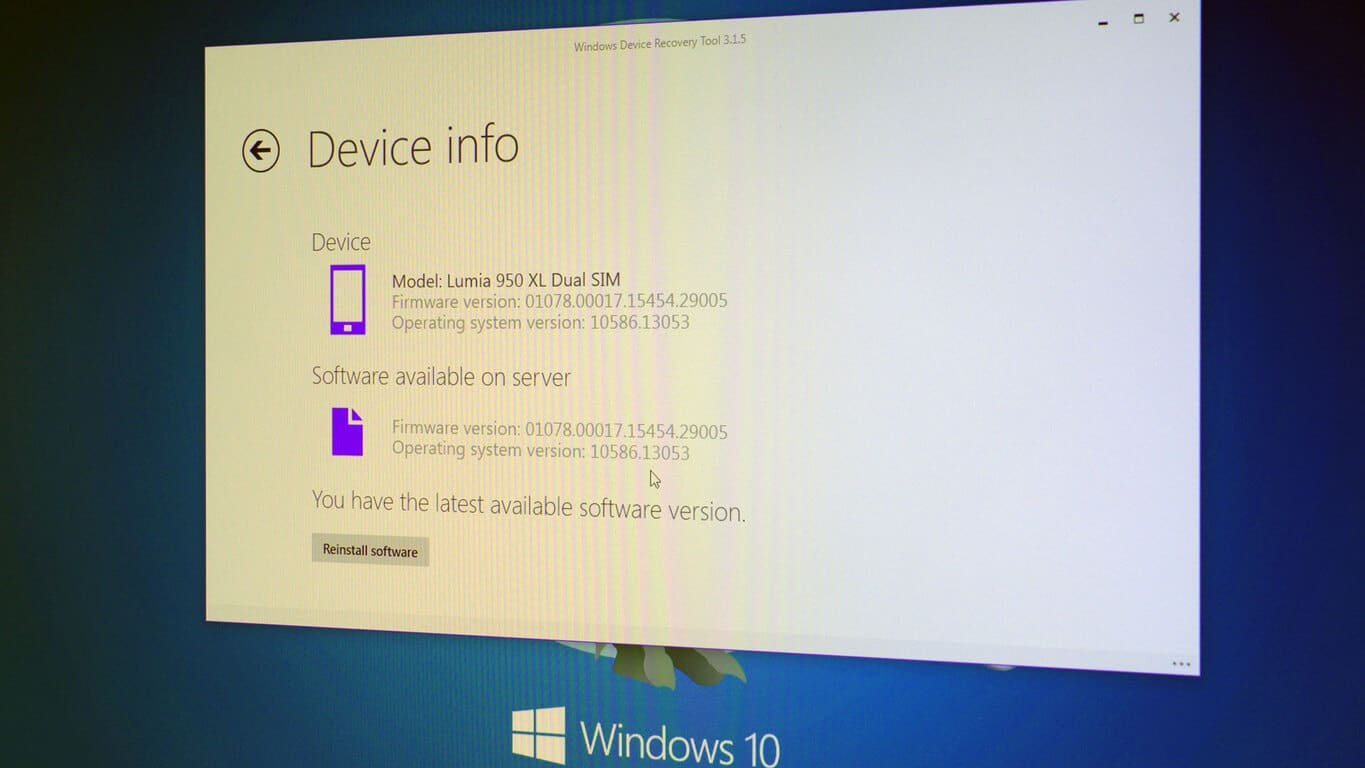 Windows Device Recovery Tool now updated, Lumia 950, 950 XL