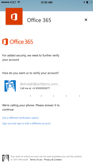 Outlook iOS Android ADAL Intune support