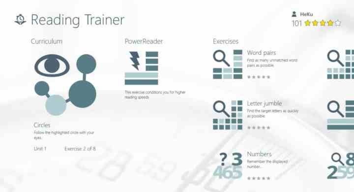 Reading Trainer Windows Store