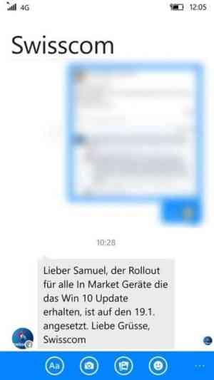 Swisscom Windows 10 Mobile Facebook Comment