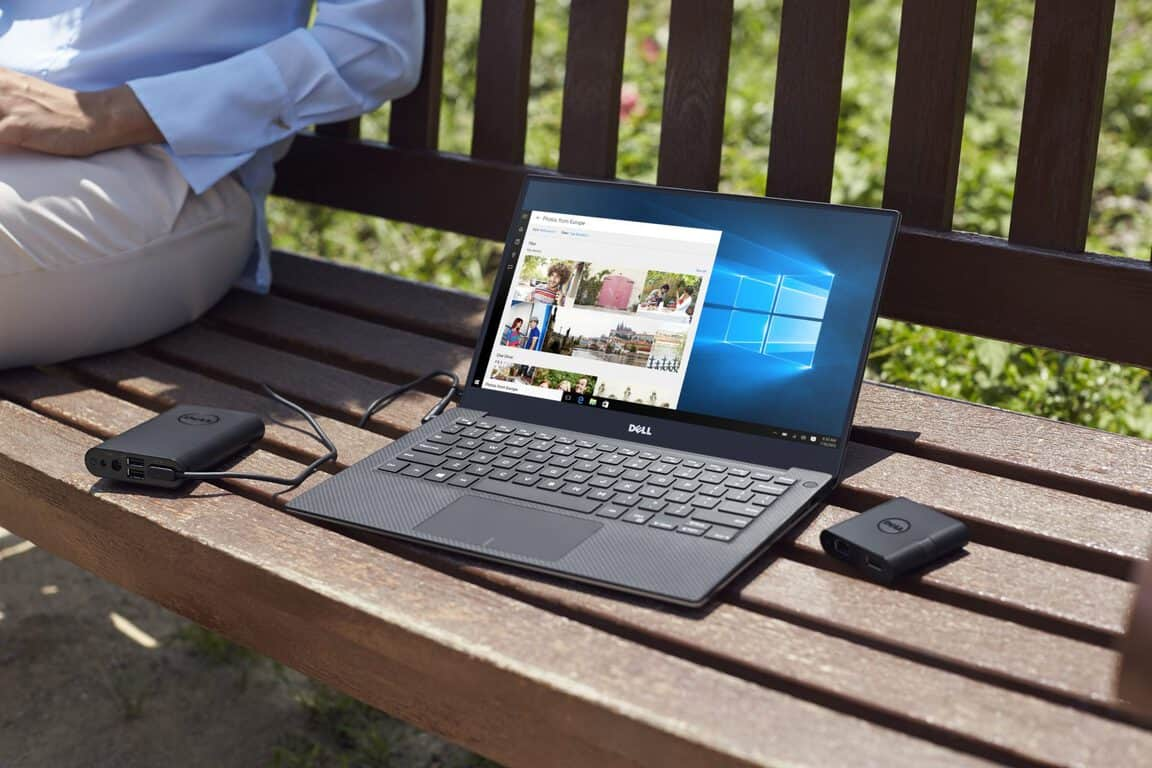 XPS 13 Touch Notebook on Bench