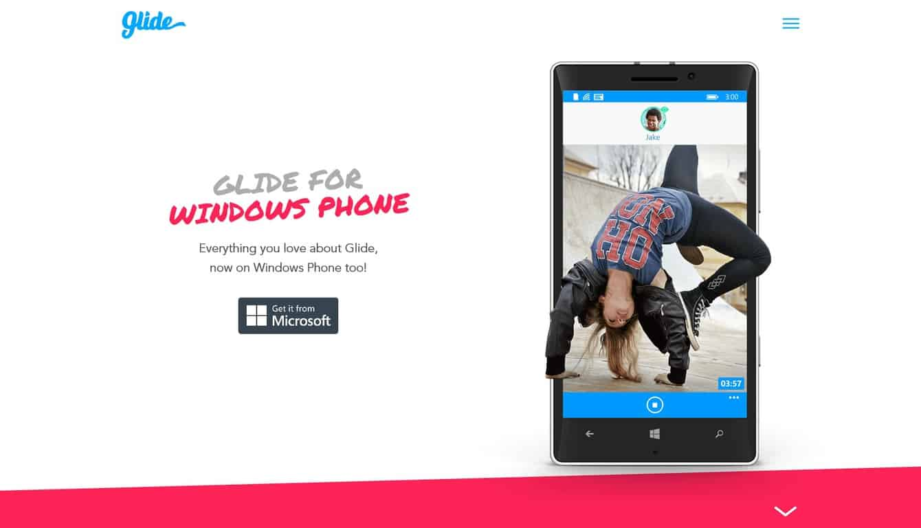 Glide app on Windows Phone
