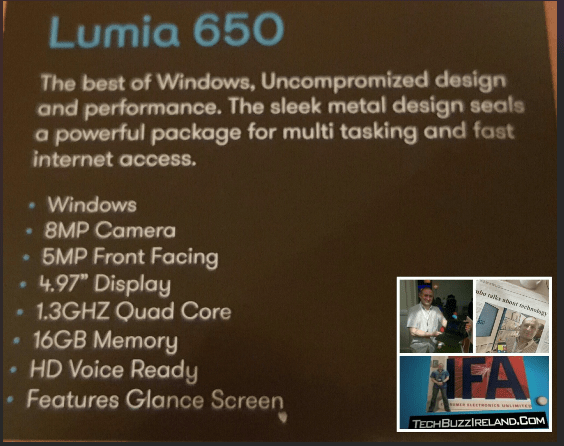 Lumia 650 Ireland price