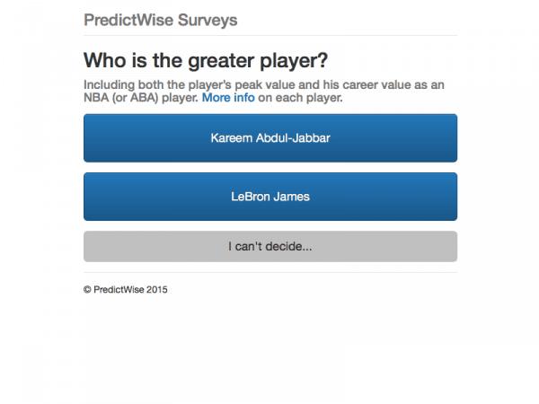 Microsoft Research Predictwise survey