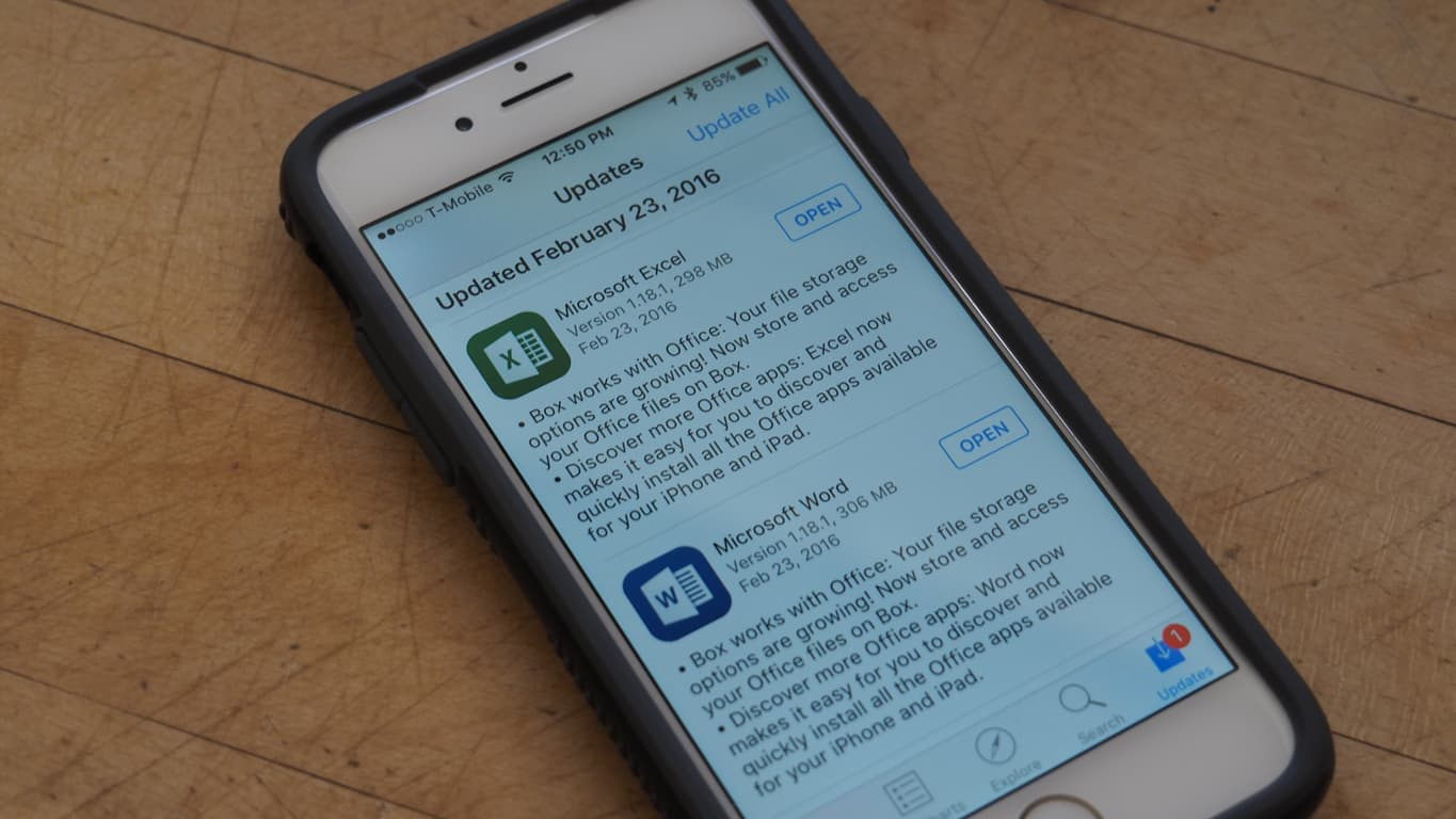 iOS Excel Word Update Featured